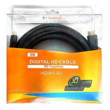 کابل HDMI فراتک ۵ متری ورژن ۱٫۴ -faratech HDMI cable v 1.4 -5 M