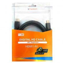 کابل HDMI فراتک ۱٫۵ متری ورژن ۱٫۴ -faratech HDMI cable v 1.4 -1.5 M