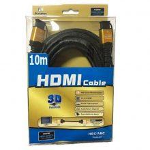 کابل HDMI سرپوش طلایی سه بعدی ۱۰ متری