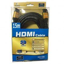 کابل HDMI سرپوش طلایی سه بعدی ۱۵ متری